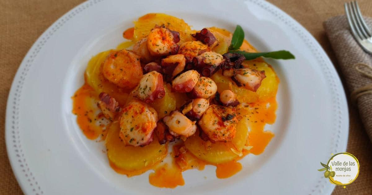 riquísima receta de pulpo a la gallega con patatas