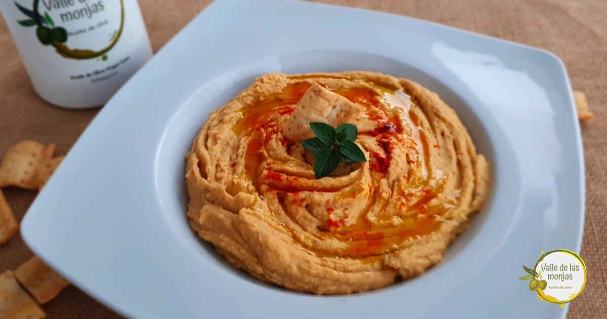 aprende a preparar la receta de hummus casero de La Abuela Marga